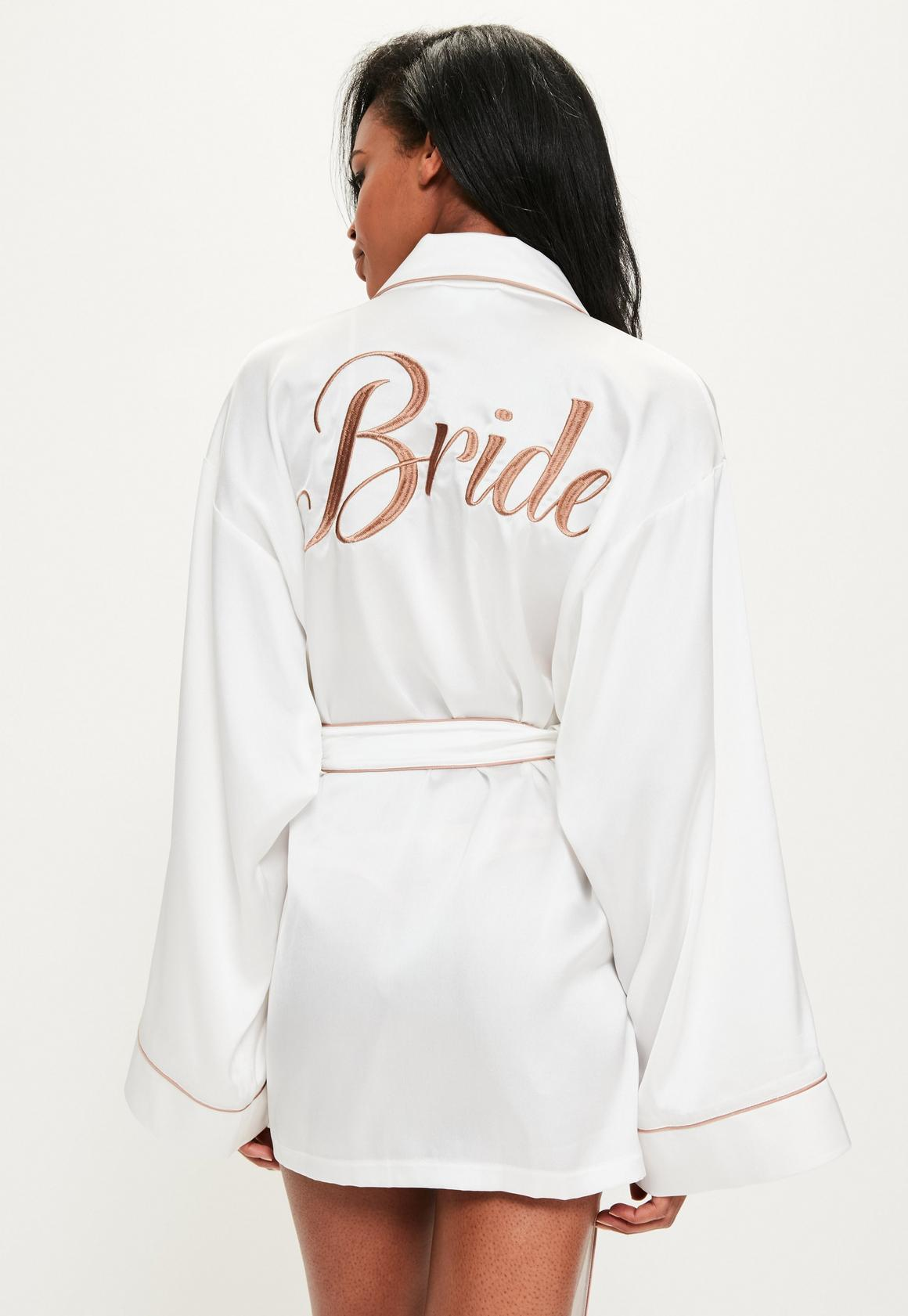 white-satin-embroidered-piped-dressing-gown